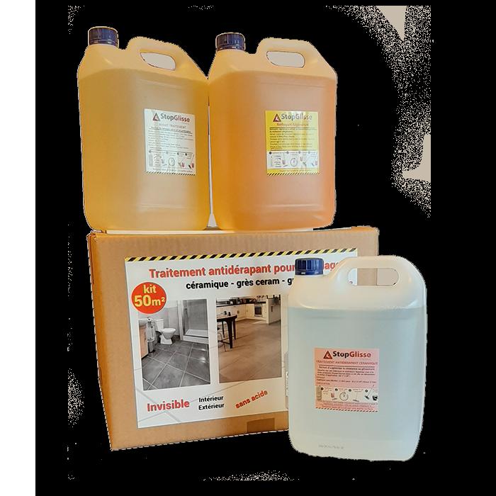 traitement antidérapant carrelage céramique - grès ceram - 50 M²